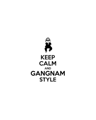 Keep Calm And Gangnam Style sfondi gratuiti per Nokia Asha 306