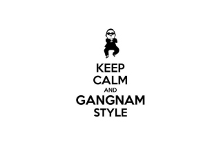 Keep Calm And Gangnam Style Background for Samsung Galaxy Ace 4