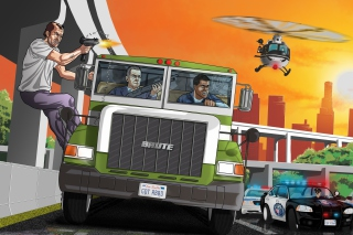 Grand Theft Auto 5 Los Santos Fight Wallpaper for Android, iPhone and iPad