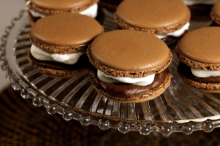 French Chocolate Macarons Background for Android, iPhone and iPad