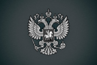 Coat of arms of Russia Background for 1366x768
