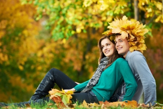 Autumn Love Background for Android, iPhone and iPad