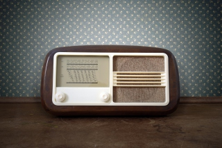 Retro Radio in Museum Background for Android, iPhone and iPad