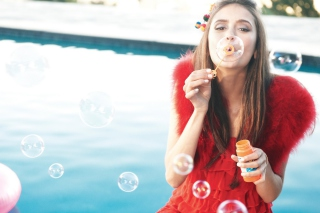 Funny Bubbles Wallpaper for Motorola DROID 3