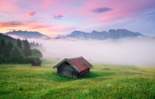 Alps Meadow Germany Background for Android, iPhone and iPad