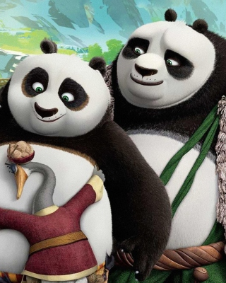 Free Kung Fu Panda 3 Family Picture for HTC Titan