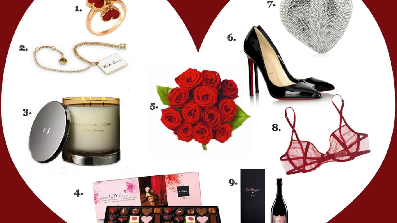 Valentines Day Gifts wallpaper 1366x768