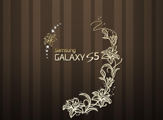 Samsung Galaxy S5 Golden Wallpaper for Android, iPhone and iPad