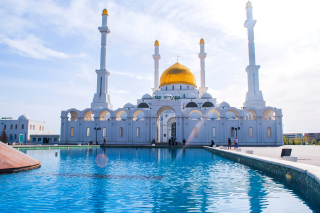 Mosque in Astana Picture for Android, iPhone and iPad