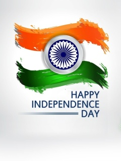 Screenshot №1 pro téma Independence Day India 240x320