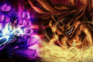 Naruto vs Sasuke Wallpaper for Android, iPhone and iPad