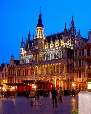 La Grand Place Brussels Wallpaper for 768x1280
