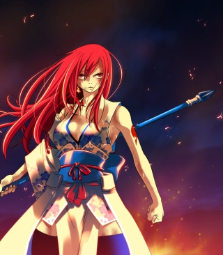Fairy Tail - Erza Scarlet sfondi gratuiti per iPhone 5