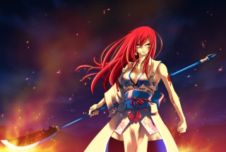 Free Fairy Tail - Erza Scarlet Picture for Android, iPhone and iPad