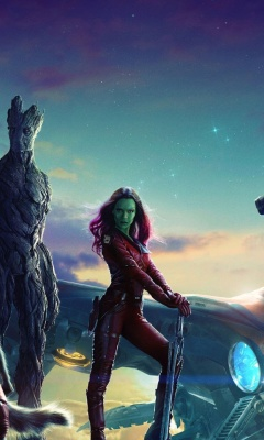 Screenshot №1 pro téma Guardians of the Galaxy 240x400