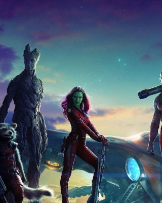 Guardians of the Galaxy sfondi gratuiti per Nokia Asha 305