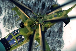Military helicopter, Kamov Ka 50, Ka 52 Alligator Picture for Android, iPhone and iPad