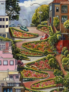 Screenshot №1 pro téma Lombard Street in San Francisco 240x320