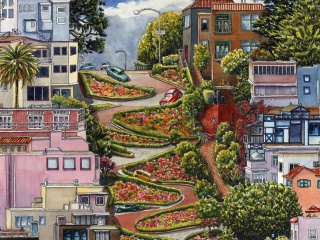 Screenshot №1 pro téma Lombard Street in San Francisco 320x240