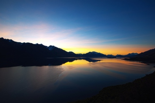 New Zealand Sunset Background for Android, iPhone and iPad
