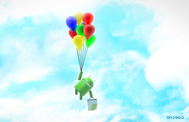 Android Balloon Flight wallpaper