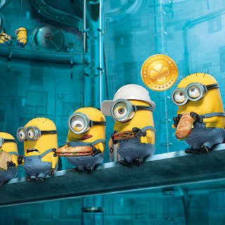 Minions at Work Background for LG KP105