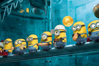 Free Minions at Work Picture for Android, iPhone and iPad