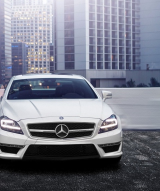 White Mercedes Benz Cls Wallpaper for 768x1280