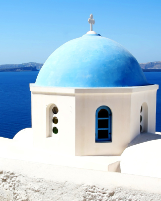 Santorini Greece Fantastic Island Picture for iPhone 6 Plus