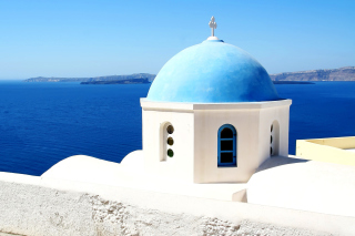 Santorini Greece Fantastic Island Background for Android, iPhone and iPad