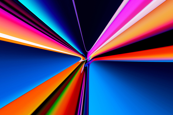 Fondo de pantalla Pipes Glowing Colors