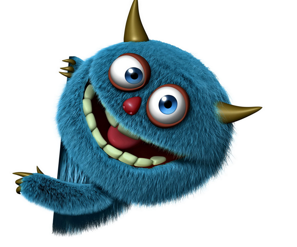 Sweet Blue Monster wallpaper 960x800