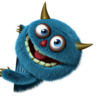 Sweet Blue Monster sfondi gratuiti per iPad 3