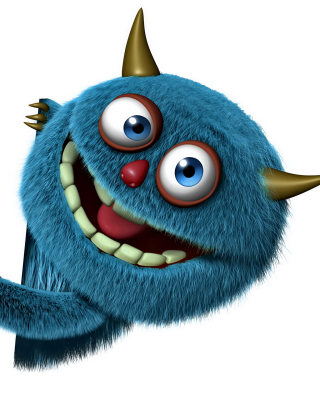 Sweet Blue Monster sfondi gratuiti per iPhone 4S