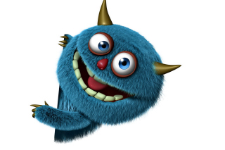 Sweet Blue Monster Wallpaper for Android, iPhone and iPad