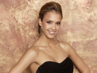Kostenloses Jessica Alba in Dress Wallpaper für 1920x1080
