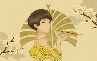 Japanese Style Girl Drawing sfondi gratuiti per cellulari Android, iPhone, iPad e desktop
