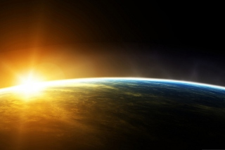 Sunrise In Outer Space Wallpaper for Android, iPhone and iPad