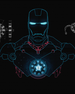 Iron Man Scetch Wallpaper for Nokia C1-01