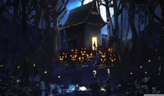 Halloween House sfondi gratuiti per cellulari Android, iPhone, iPad e desktop