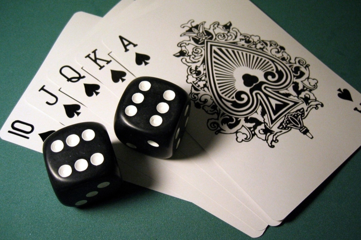 Gambling Dice and Cards wallpaper