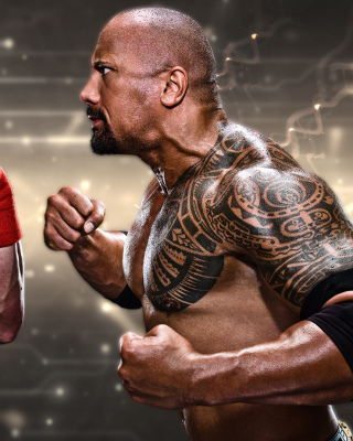 The Rock vs John Cena papel de parede para celular para 132x176