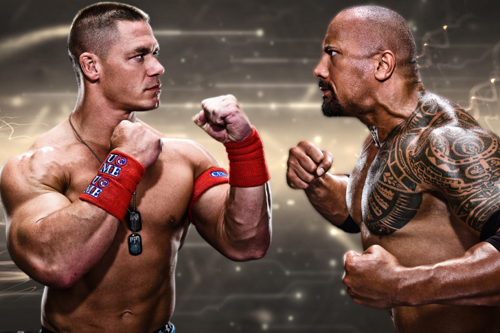 Fondo de pantalla The Rock vs John Cena