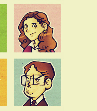 Office People Illustration Picture for 640x960