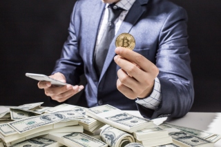 Kostenloses Bitcoin Money Business Wallpaper für Android, iPhone und iPad