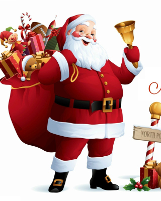 HO HO HO Merry Christmas Santa Claus Wallpaper for Nokia X2