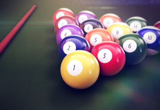 Playing Pool Game Picture for Android, iPhone and iPad