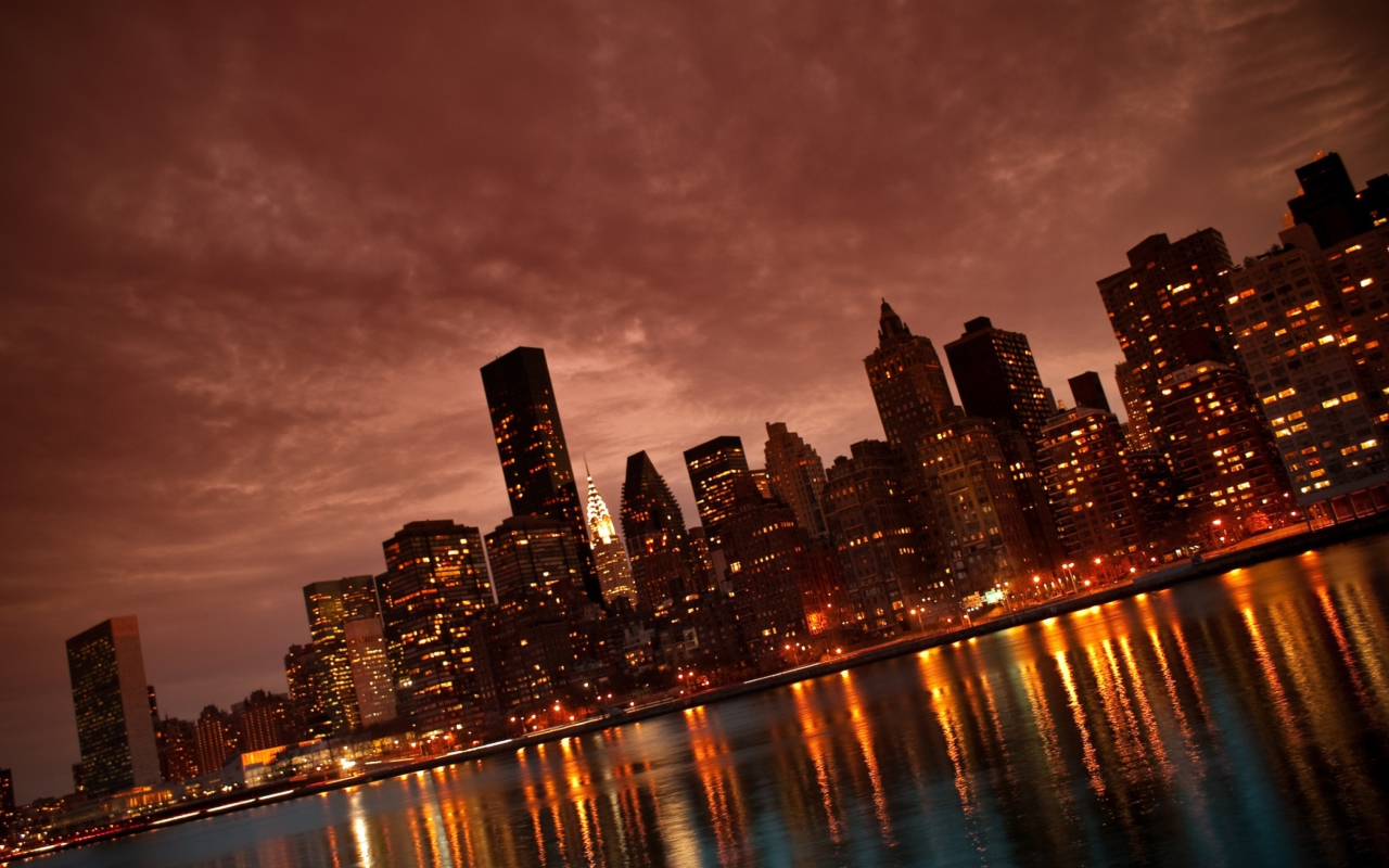 Screenshot №1 pro téma Manhattan Reflections 1280x800