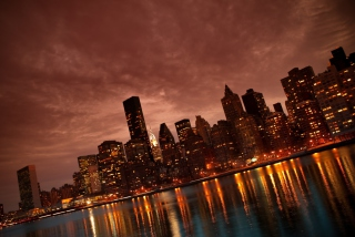 Manhattan Reflections Wallpaper for Android, iPhone and iPad