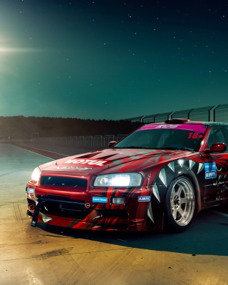 Nissan Skyline GTR R33 for Street Racing Background for Nokia Asha 306